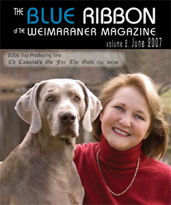 sue thomas  breeder of camelot weimaraners